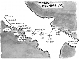 Map of Horace's Journey to Brundisium